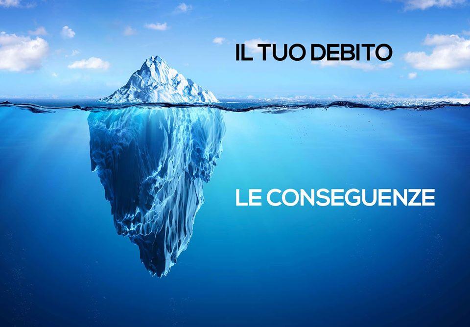 L'iceberg del debito